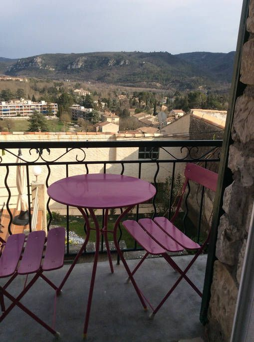 Check out this awesome listing on Airbnb: Petite maison de village avec vue - Townhouses for Rent in Gréoux-les-Bains