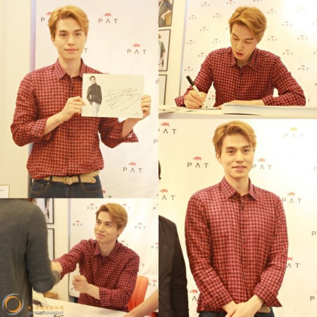 [Photos] Lee Dong-wook, a blonde gentleman, signs autographs for his fans @ HanCinema :: The Korean Movie and Drama Database
