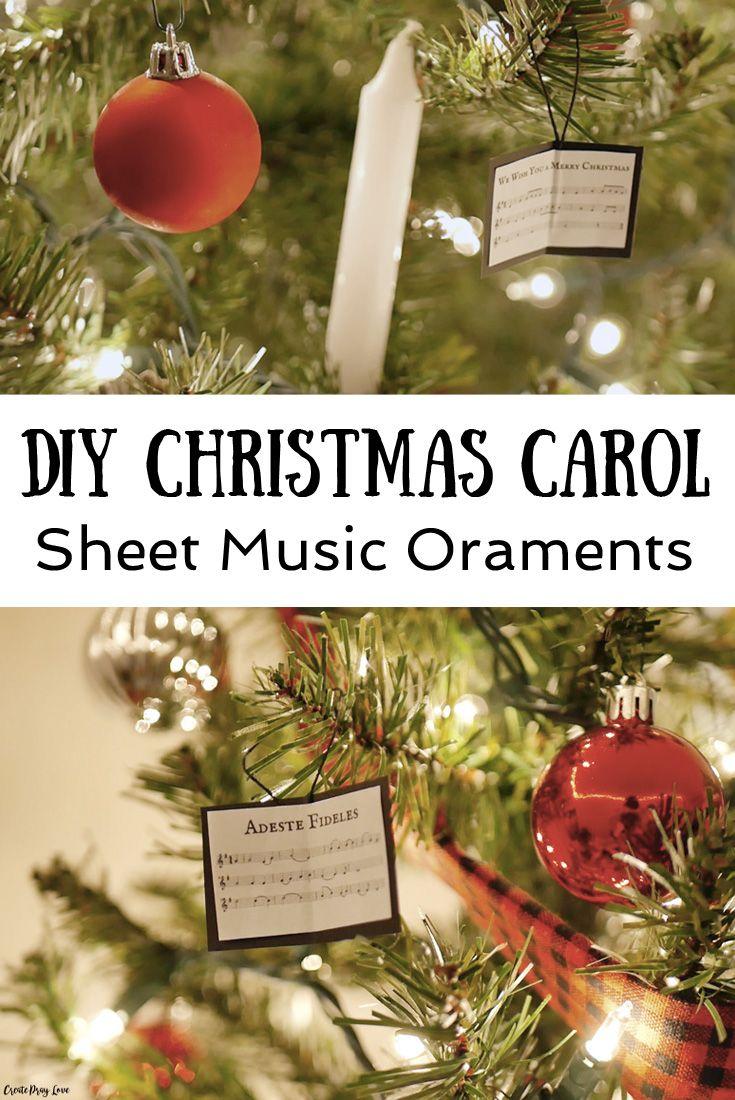 Diy Christmas Carol Sheet Music Ornaments Create Pray Love Sheet Music Ornaments Music Ornaments A Christmas Carol Themes