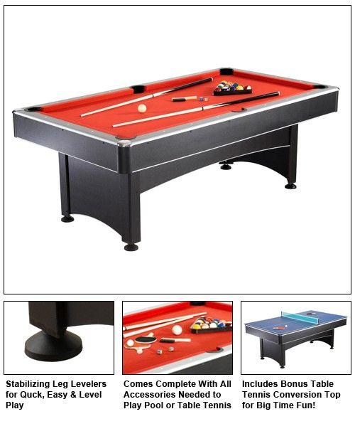 Hanko™ Maverick 7u0027 Pool Table U0026 Table Tennis #saunas