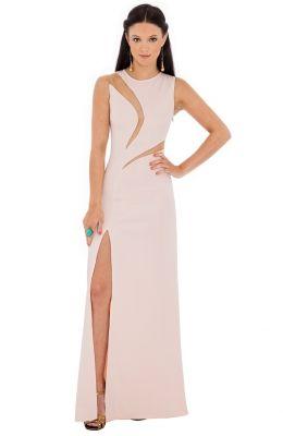 Nádherné spoločenské vykrajované plesové šaty – DOUBLE INSERT HIGH SLIT MAXI