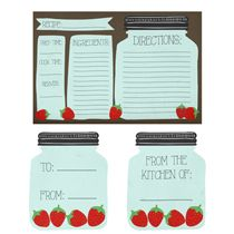 Recipe Cards - Free Pretty Things For You