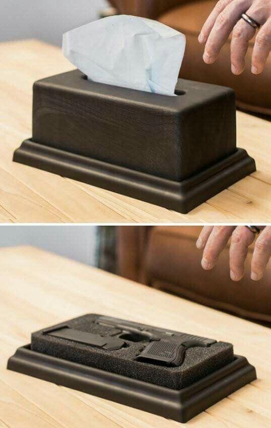 Hidden compartment tissue box
