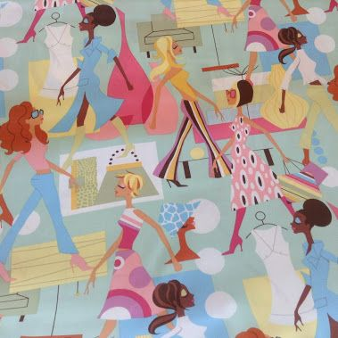 I love these #funky #children's #fabrics from the #Amy #Butler & #Alexander…