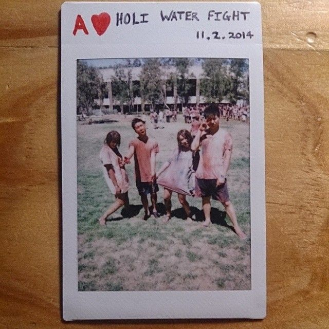 52 cards in a deck // 52 weeks in a year. EKTA's Holi Festival at ANU O-Week 2014. Pretty much involves throwing paint powder and water at each other for 30 minutes. So hard to get out. #paint #polaroid #photochallenge #photography