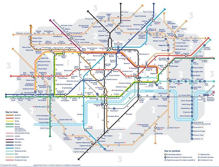 Tube Walking Map: London Underground Reveals Official Times Between Every Station