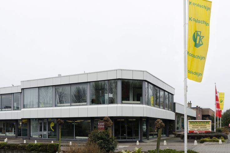 Buitenaanzicht Koolschijn showroom | Delft | Rotterdamseweg 352 | keukens | tegels | badkamers | koolschijn.nl