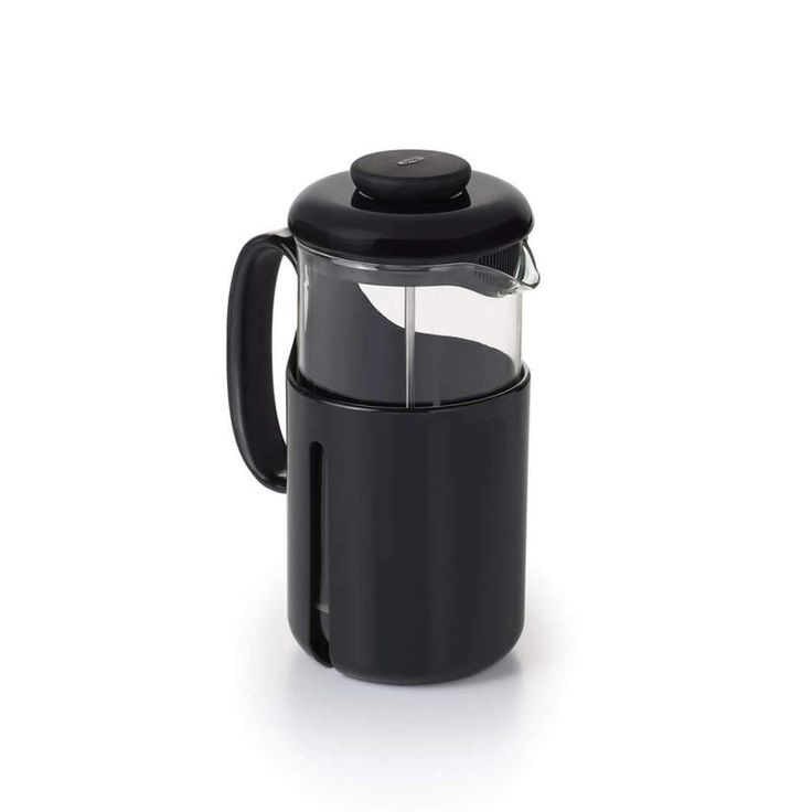 The Venture French Press' clear Tritan carafe is durable and shatter resistant, so it's perfect for taking on the go for camping or traveling. Windows on either side of the case show the coffee level, and the spout has a secondary level of filtration for a clean taste. The 8-cup capacity is ideal for serving parties of two (or more).