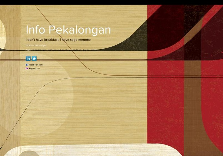 Info Pekalongan's page on about.me – https://about.me/infopekalongan