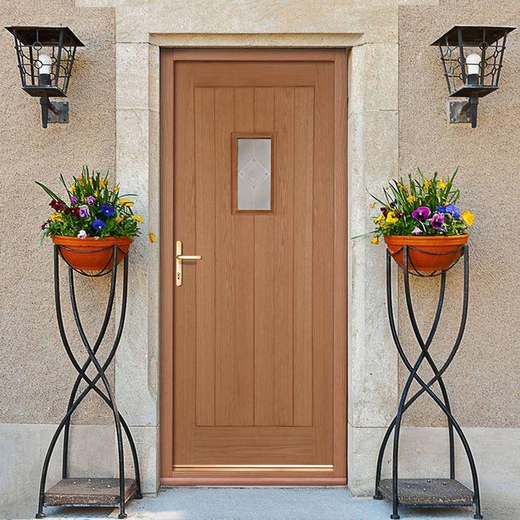 Hillingdon Part L Compliant External Oak Door with Zinc Inlay Argon Filled Double Glazing. #cottagedoor #cottagepartldoor #externaloakdoor
