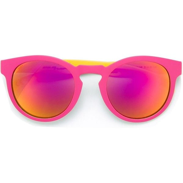 Italia Independent colour block sunglasses (130 CAD) ❤ liked on Polyvore featuring accessories, eyewear, sunglasses, multicolour, block sunglasses, colorful sunglasses, italia independent, italia independent glasses and multi colored sunglasses