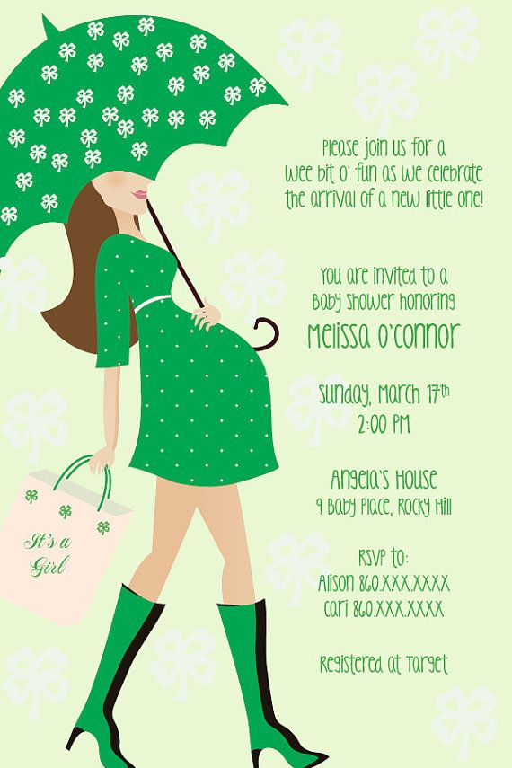 Custom Irish Theme Baby Bump Baby Shower By Shorelinedesignz