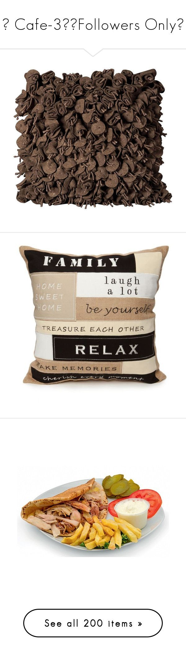 """""""✦ Cafe-3/🔻Followers Only🔻"""" by tomoko22 ❤ liked on Polyvore featuring home, home decor, throw pillows, pillows, brown oth, flower throw pillows, flower stem, flower home decor, brown accent pillows and brown throw pillows"""