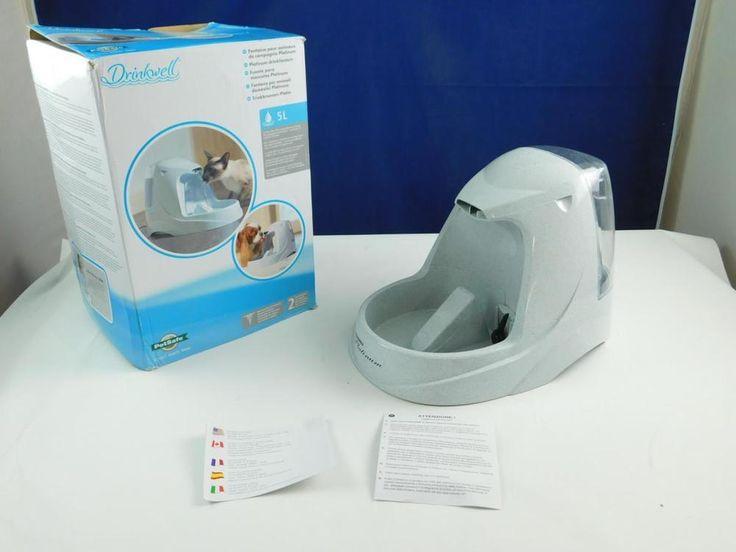 PetSafe D2-EU-45 Drinkwell Trinkbrunnen 5L, 27x26x41cm Wasserspender Wasserstell