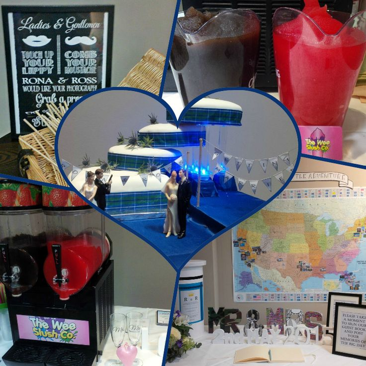 "Congratulations to Ross & Rona who got married on Sat at Barony Castle in Peebles​! / Our Cola #slush drinks and Strawberry Daiquiri #frozencocktails went down a treat alongside your sweetie bar and #photobooth - plus, who wouldn't an ice cool drink to accompany their spoils from the #hogroast? ;) / We wish you all the best in your married life - and hope you thoroughly enjoy your ""little adventure"" across the States! #TWSC #Wedding #Bride #Groom #MrandMrs"