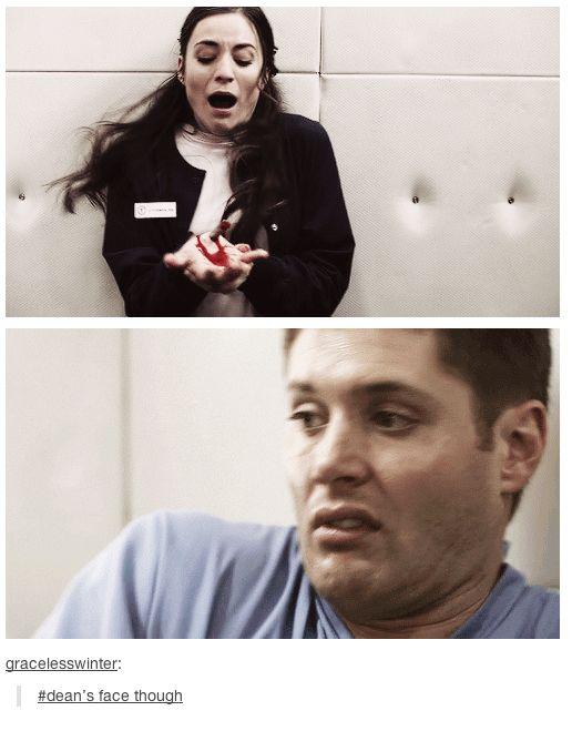 """Dean's face though"" 5x11 Sam Interrupted"