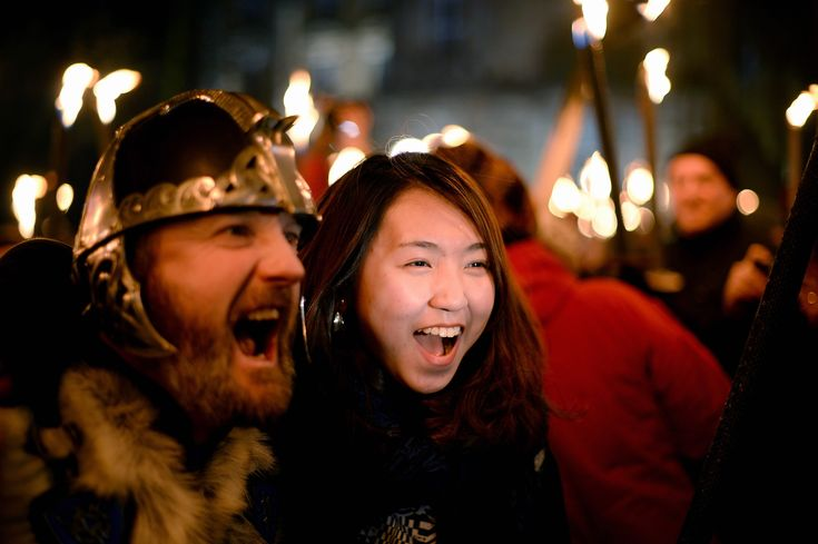 Torchlight Procession Begins Edinburgh's Hogmanay. Hogmanay's origins are viking. Norse invaders celebrated the winter solstice, the shortest day of the year, with wild parties in late December.Celebrations