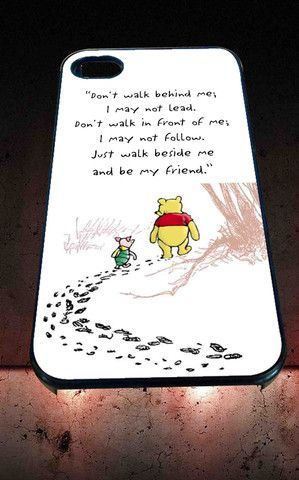 Disney Winnie The Pooh Quotes for iPhone 4/4s, iPhone 5/5S/5C/6, Samsung S3/S4/S5 Unique Case *76* - PHONECASELOVE
