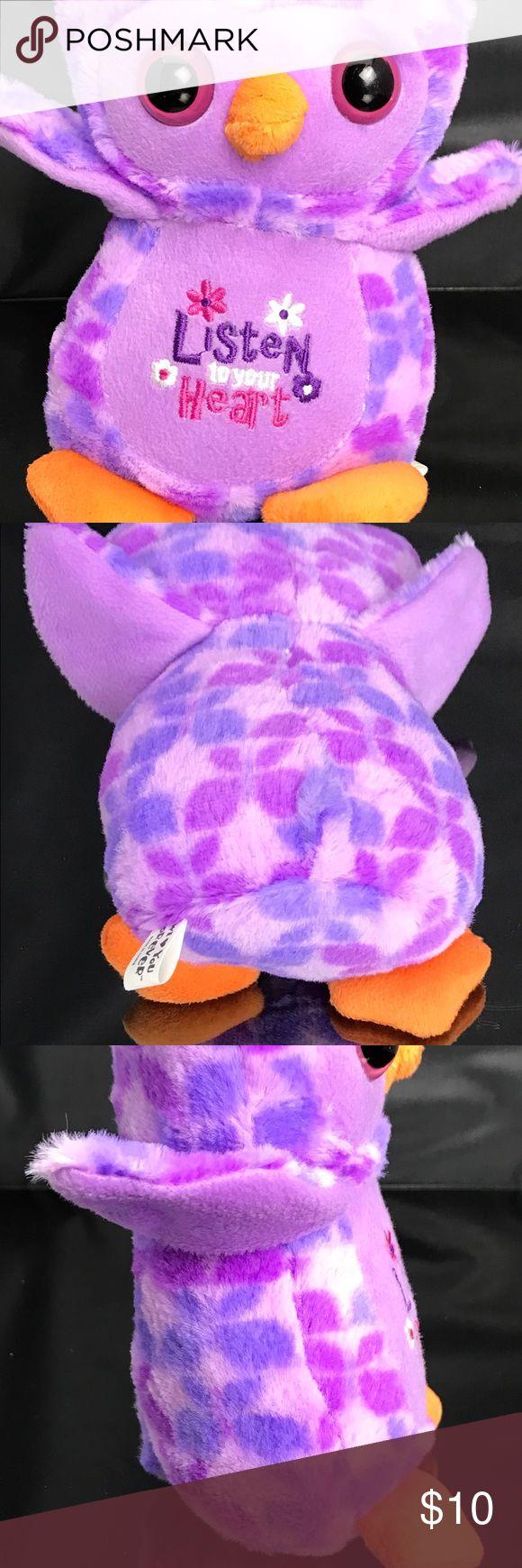 """Purple AESOP'S FABLES HOOTIE OWL 10"""" plush Purple AESOP'S FABLES HOOTIE OWL 10"""" plush stuffed animal toy Other"""