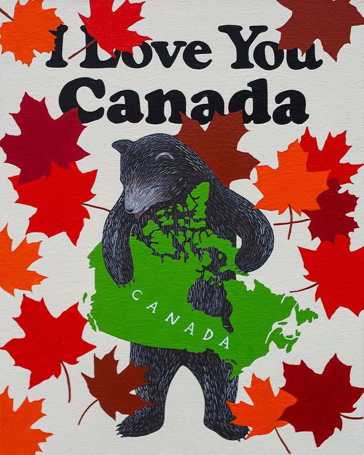 "We're celebrating the beauty of our good neighbors to the North with our ""I Love You Canada"" print, featuring enough maple leaves to smother a hockey team. Prints are 8-color UltraChrome K3™ inks on 3"