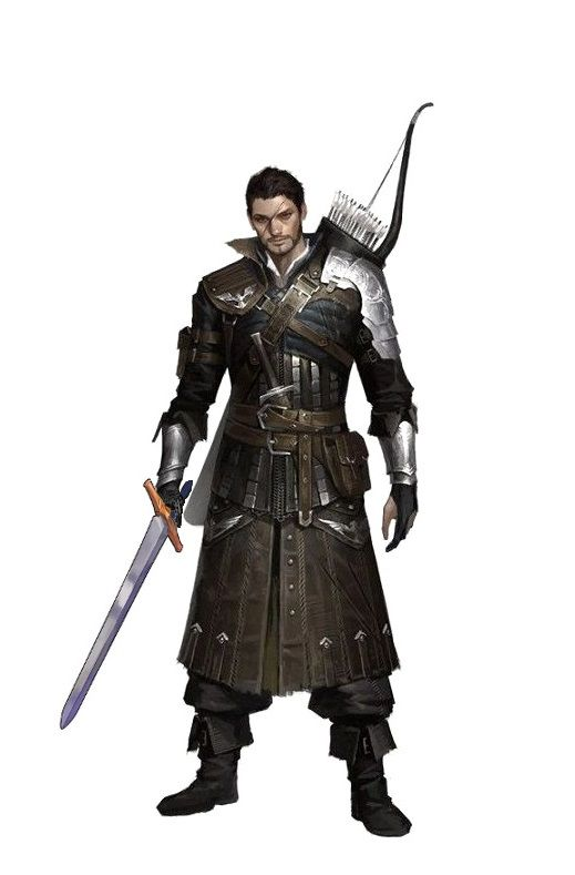 Fighter Warrior Archer -  Pathfinder PFRPG DND D&D d20 fantasy