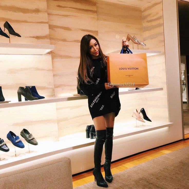 Black OTK boots
