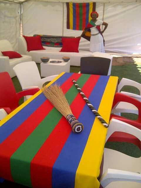 African wedding decor