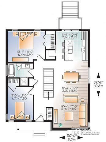 Rez-de-chaussée Modèle contemporain abordable, 4 chambres, 2 salles familiales, garde manger,  - Le Citadin