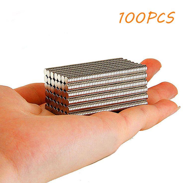 100 Pcs Super Strong Putaran Magnet Berbentuk Kubus Magnet Kulkas Rare Earth Neodymium N35 Disc Dapur Alat DIY 5x1mm