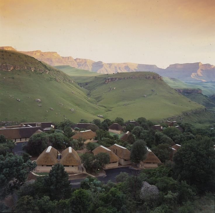 View of Giants Camp in the Drakensberg, Giant's Castle, Midlands Meander. See more: www.midlandsmeander.co.za
