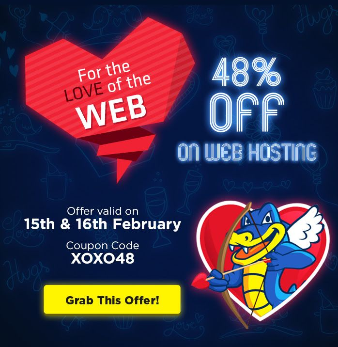 HostGator India - 48% Off - Love of the Web Sale http://goo.gl/aTLlat  Grab this Before it Ends. Hurry!  24x7 Technical Support · eCommerce Ready. Hostgator reviews- http://goo.gl/D6Oghi