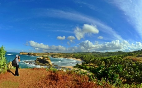 The Beauty of Klayar Beach Pacitan East Java Indonesia