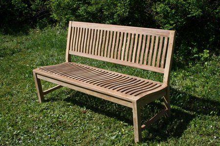 Gartenbank Ohne Armlehne 150 Cm Teak Ergonomisch Holz Gartenbank