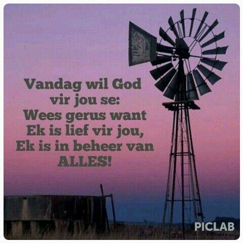 God is in beheer...