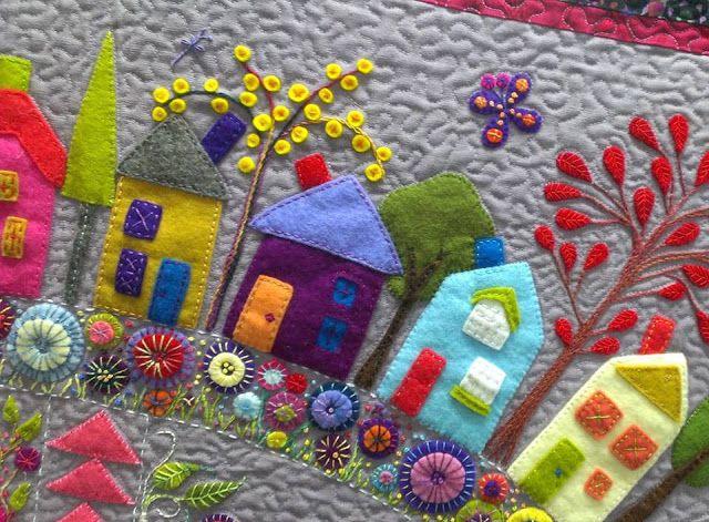 Wendy Williams- 'Round The Garden' quilt