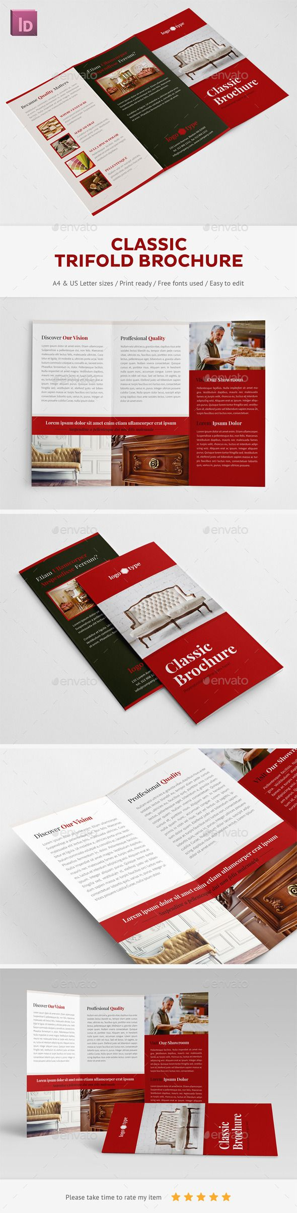 Classic Trifold Brochure - Corporate Brochures