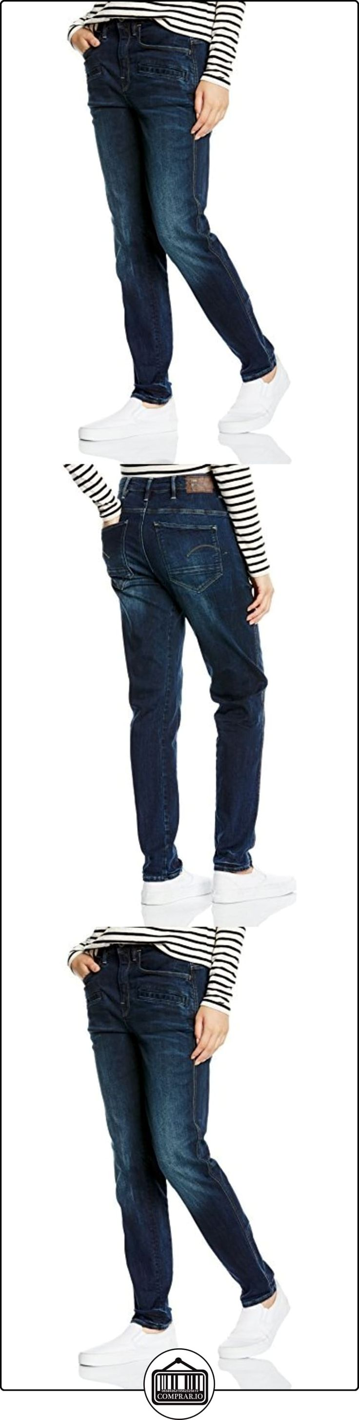 G-STAR Davin 3D High Boyfriend - Neutro stretch denim-Pantalones Mujer,, Azul (Dark Aged), W24 / L32 (ES 34)  ✿ Vaqueros ✿