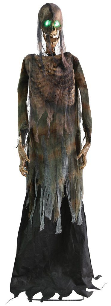 Creepy Halloween skeleton with sound and movement Lifesize haunted figure, moves & with eyes lit The creepy skeleton shreds would be to provide really on your Halloween party there as a haunted figure