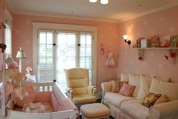 Girl's room with comfy furniture