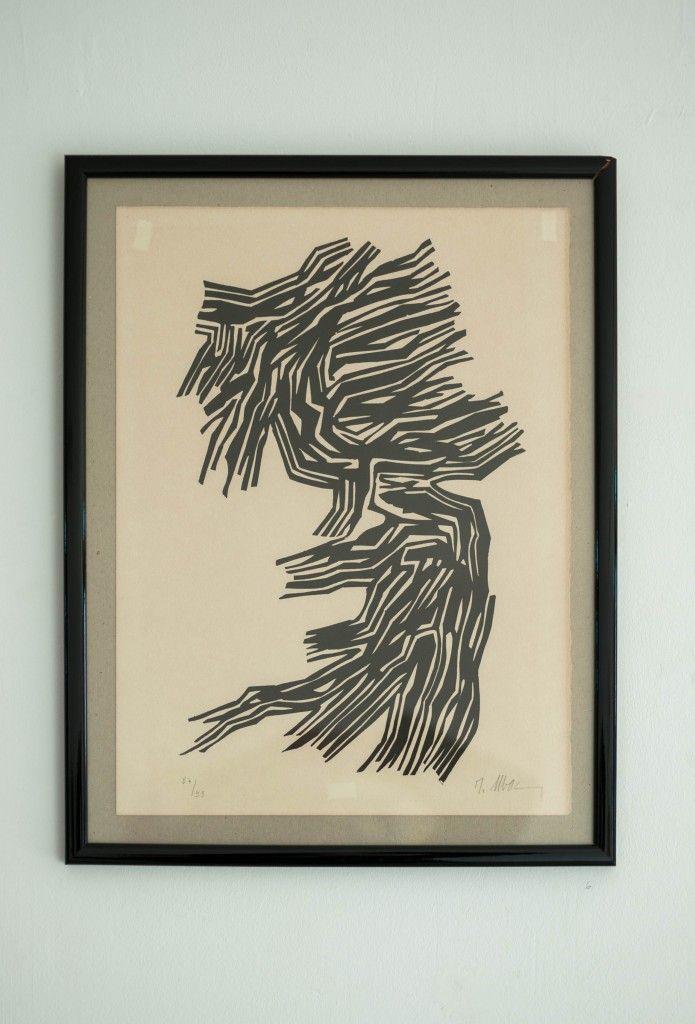 Raoul Ubac « Tuilage » Lithographie sur papier 38 x 28 cm 130 euros