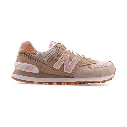 new balance beige con rosa
