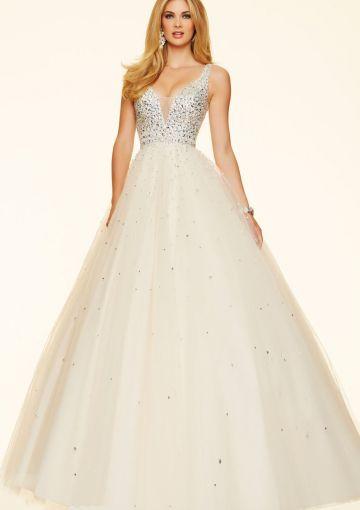 Cheap and Australia 2016 Ivory A-line Straps Sequins Organza Floor Length Evening Dress/ Prom Dresses 98127 from Dresses4Australia.com.au
