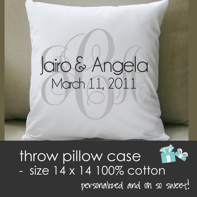 Monogram wedding pillow - THROW pillow size 14 x 14- perfect wedding gift for the & 25+ unique Wedding pillows ideas on Pinterest | Ring pillow Ring ... pillowsntoast.com