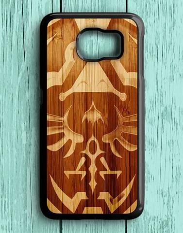 Zelda Link Hyrule Shield Wood Design Samsung Galaxy S6 Case