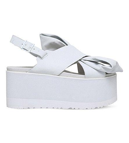 UGG - UGG x PREEN Moon Bow leather sandals | Selfridges.com