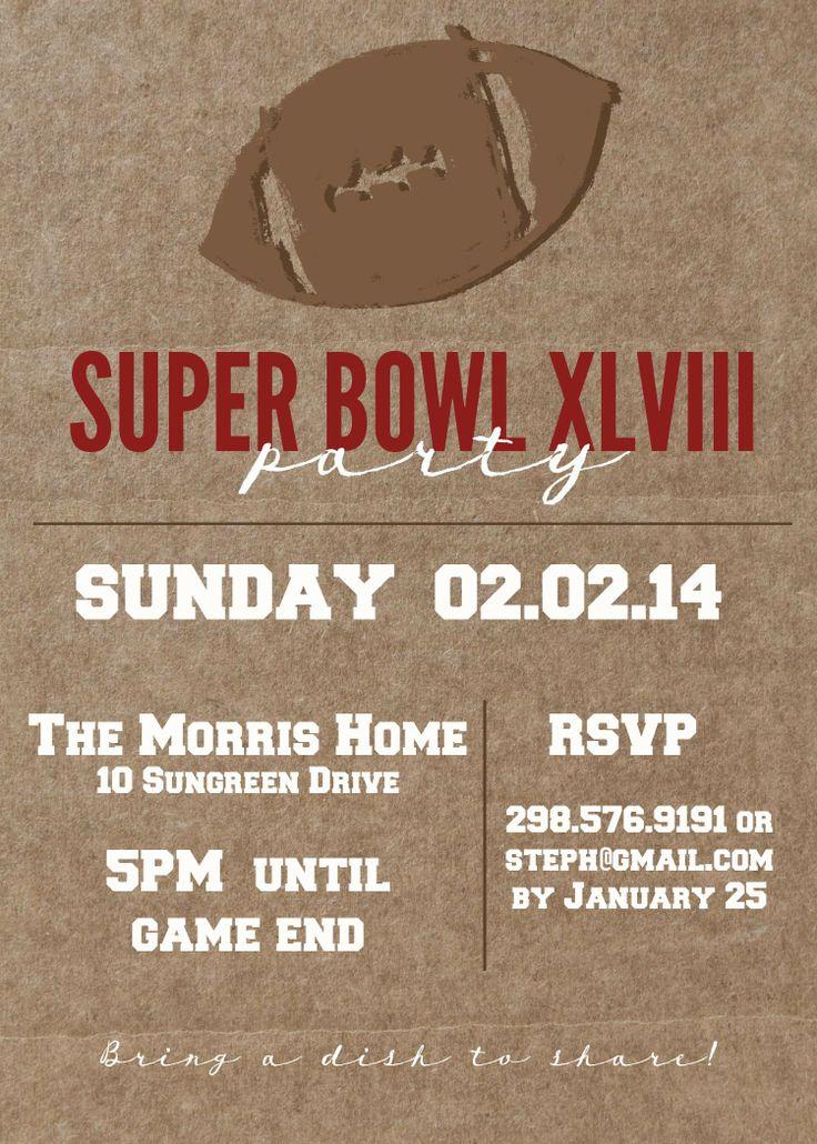 Best 25 Super bowl l ideas – Free Printable Super Bowl Party Invitations