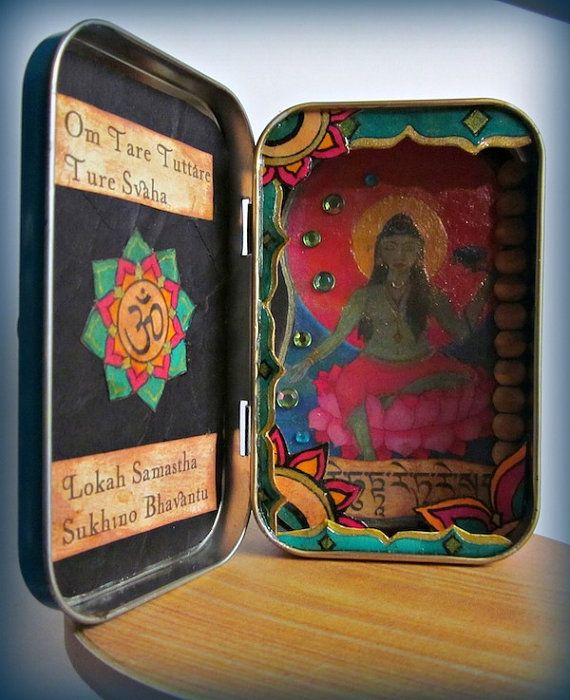 Mini Shrine to the Green Tara by D. Sylvan on Etsy; $27.00