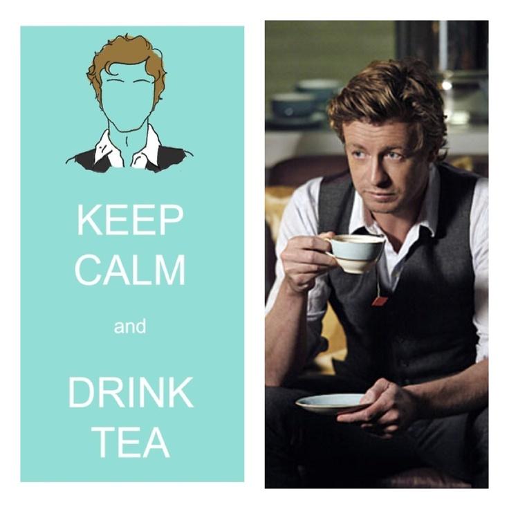 Patrick Jane drinking Tea