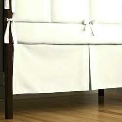 White Crib Skirt Box-Pleat
