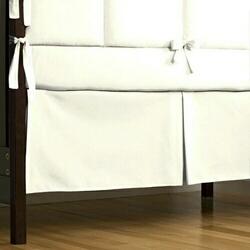 White Crib Skirt Box-Pleat